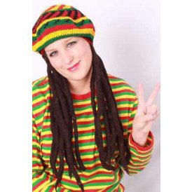 Bob Marley baret met rastahaar