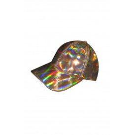Baseballcap metallic roze goud