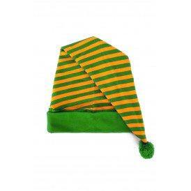 Slaapmuts oranje/groen gestreept