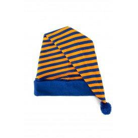 Slaapmuts oranje/blauw gestreept