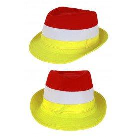 Kojak hoedje rood-wit-geel