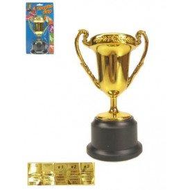 Plastic trofee 12.5 cm.