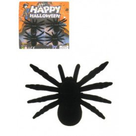 Spinnen op kaart per 4 zwart