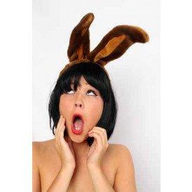 Diadeem konijnenoren bruin