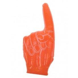 Opblaasbare hand met vinger oranje