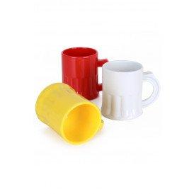 Shotglaasjes rood/wit/geel 2,5 cl.