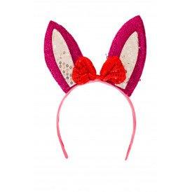 Diadeem konijn roze/ wit