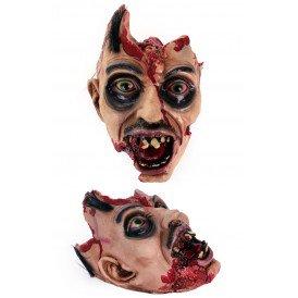 Hoofd met open schedel (halloween)
