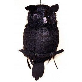 Horror uil met licht 48 x 35 cm. (Halloween)