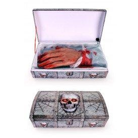 Bewegende hand met geluid in kistje (Halloween)