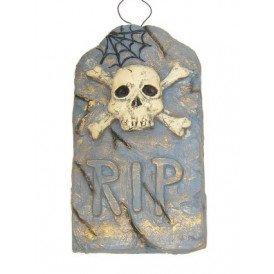 Grafsteen R.I.P. skelet 52x30 cm.