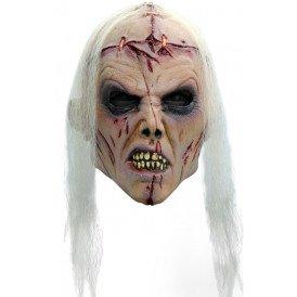 Masker zombie lobotomie wit haar