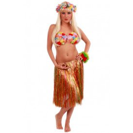 Hawaiirok multicolour dames 55cm.