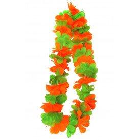 Hawaii slinger oranje/groen