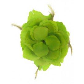 Bloemendecoratie veren groen 10x10cm