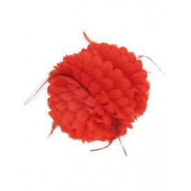 Haarklem rode bloem + besjes