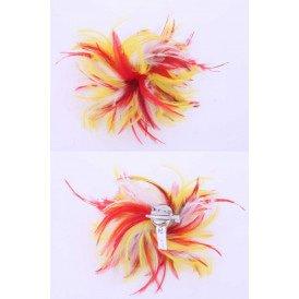 Veren hoofddecoratie rood-wit-geel