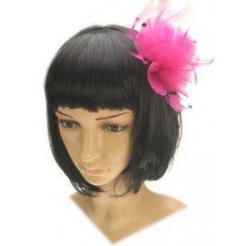 Haardeco op haarspeld pink