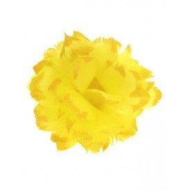 Bloem + glitter en ijzerdraad geel