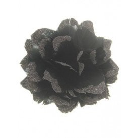 Bloem + glitter en ijzerdraad zwart
