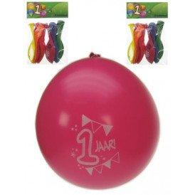 Leeftijdballon 1 jaar per 8  32cm/1
