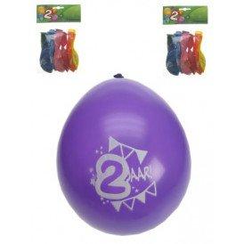Leeftijdballon 2 jaar per 8 32cm/11inch