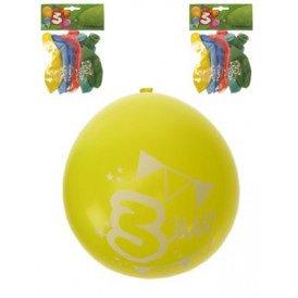 Leeftijdballon 3 jaar per 8 32cm/11inch
