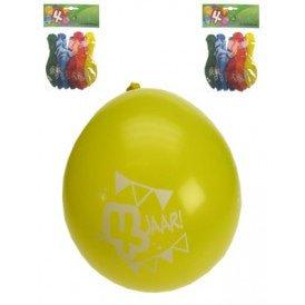 Leeftijdballon 4 jaar per 8 32 cm/11inch