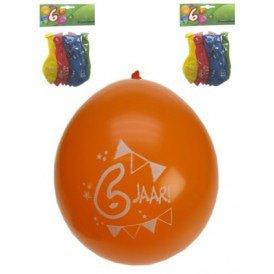 Leeftijdballon 6 jaar per 8 32 cm/11inch