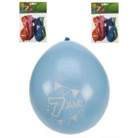 Leeftijdballon 7 jaar per 8 32 cm/11inch
