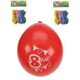 Leeftijdballon 8 jaar per 8 32 cm/11inch