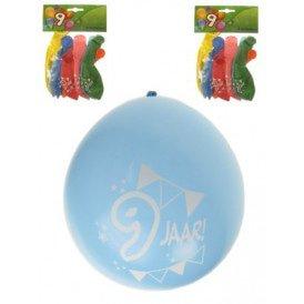 Leeftijdballon 9 jaar per 8 32 cm/11inch