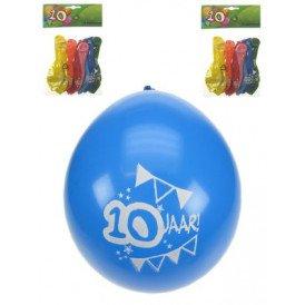 Leeftijdballon 10 jaar per 8 32cm/11inch