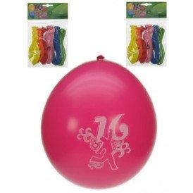 Leeftijdballon 16 jaar per 8 32cm/11inch