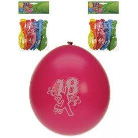 Leeftijdballon 18 jaar per 8 32cm/11inch