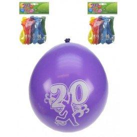 Leeftijdballon 20 jaar per 8 32cm/11inch