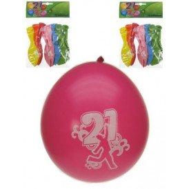 Leeftijdballon 21 jaar per 8 32cm/11inch