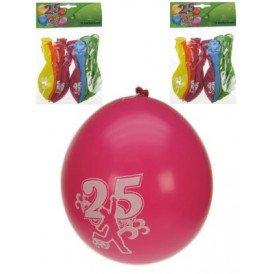 Leeftijdballon 25 jaar per 8 32cm/11inch