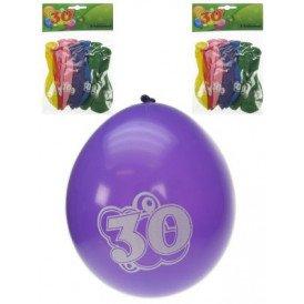Leeftijdballon 30 jaar per 8 32cm/11inch