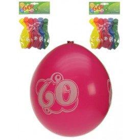 Leeftijdballon 60 jaar per 8 32cm/11inch