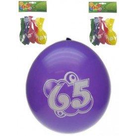 Leeftijdballon 65 jaar per 8 32cm/11inch