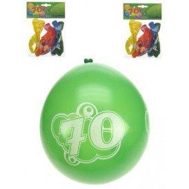 Leeftijdballon 70 jaar per 8 32cm/11inch