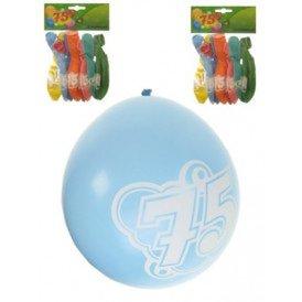 Leeftijdballon 75 jaar per 8 32cm/11inch