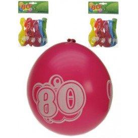 Leeftijdballon 80 jaar per 8 32cm/11inch