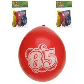 Leeftijdballon 85 jaar per 8 32cm/11inch