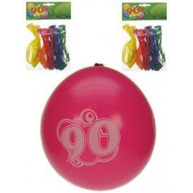 Leeftijdballon 90 jaar per 8 32cm/11inch