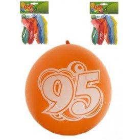 Leeftijdballon 95 jaar per 8 32cm/11inch