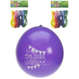 Themaballon welkom thuis per 8 32cm/11inch