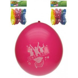 Themaballon geslaagd per 8 32cm/11inch