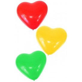 Themaballon hartjes rood/geel/groen